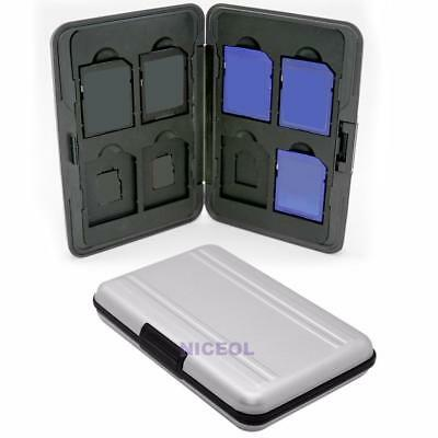 Aluminum Hard 8 Micro SD SDHC Memory Card Storage Carrying Case Holder Protector