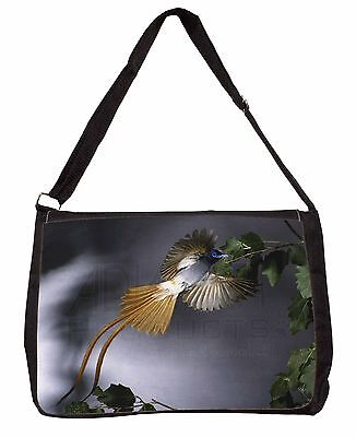Humming Bird Large Black Laptop Shoulder Bag Christmas Gift Idea, AB-91SB