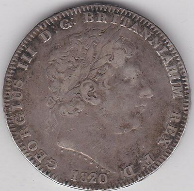 1820 Lx George Iii Crown In Very Fine Condition