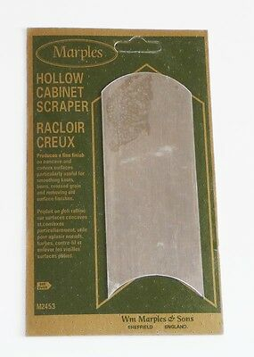IRWIN Marples Hollow Cabinet Scraper Hardened M2453 NEW Wood Shaping Tool