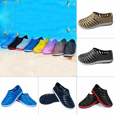Mens Rubber Slip on Slide Sandals Casual Summer Beach Clog Slippers Sports Shoes
