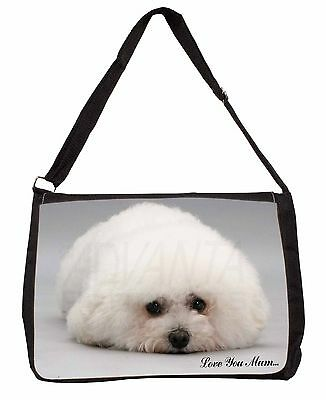 Bichon Frise Dog /'Love You Mum/' Insulated Pink School Lunch Box Bag MUM-D2LBP