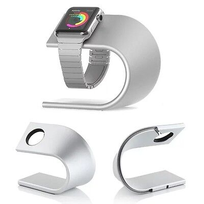 Fashion silver Aluminum Metal Dock Charging Station Stand For Apple Watch iWatch