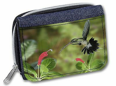 Green Hermit Humming Bird Girls/Ladies Denim Purse Wallet Christmas Gif, AB-95JW
