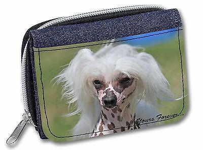 "Chinese Crested Dog ""Yours Forever..."" Girls/Ladies Denim Purse Wall, AD-CHC4yJW"