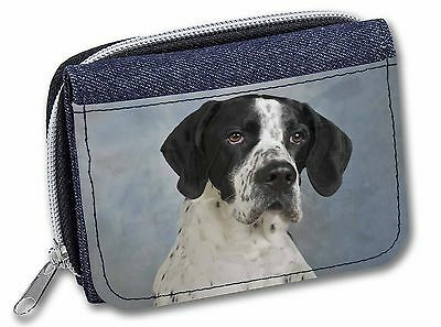 English Pointer Dog Girls/Ladies Denim Purse Wallet Christmas Gift Ide, AD-EP1JW