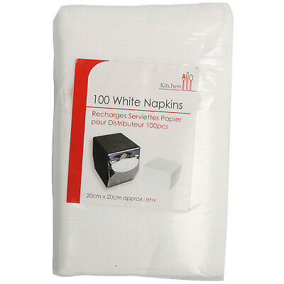 Pack Of 100 White Napkins Serviette Paper Napkin For Birthday Wedding Parties