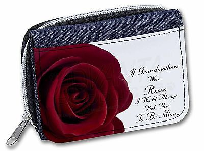 GRA-R5BLB /'If Grandmothers Were Roses/' Large Black Shopping Bag Christmas Prese