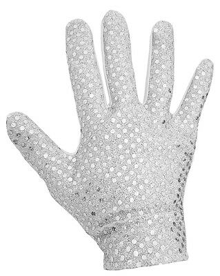 Adult Men's King of Pop Michael Jackson Sequin Glove Costume Accessory