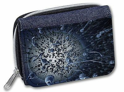 Racing Sperms-No Condoms Needed! Girls/Ladies Denim Purse Wallet Christ, SpermJW
