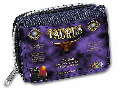 Taurus Star Sign Birthday Gift Girls/Ladies Denim Purse Wallet Christma, ZOD-2JW