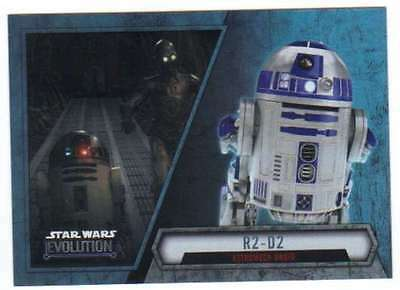 2016 Topps Star Wars Evolution Trading Card #76 R2-D2 Astromech Droid