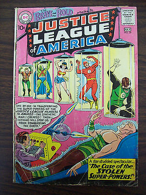 BRAVE AND THE BOLD #30 3rd APPEARANCE JUSTICE LEAGUE OF AMERICA OW PAGES