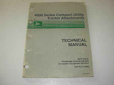 John Deere 4000 Series Utility Tractor Attachments Technical Service Manual