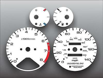 1994-1997 Honda Accord Dash Instrument Cluster White Face Gauges