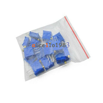 15 Values 3296 Trimmer Trim Pot Resistor Potentiometer Kits