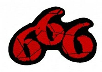 666 Patch (Sew On Woven Patch 100% Official New)