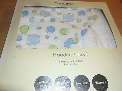 Brand New Bubba Blue Hooded Towel Bamboo Cotton Gift Boxed Blue