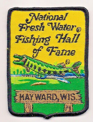 Souvenir Patch - National Fresh Water Fishing Hall Of Fame, Hayward Wisconsin