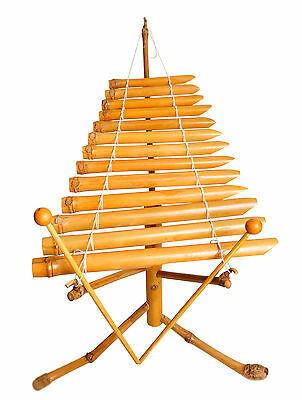 Bamboo Xylophone Vietnamese Traditional Instrument T'rung Fair Trade New