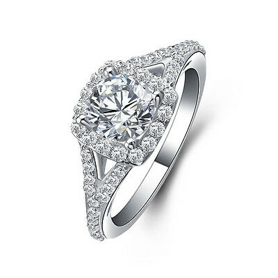 JewelryPalace AAA Cubic Zirconia Engagement Wedding Ring 925 Sterling Silver