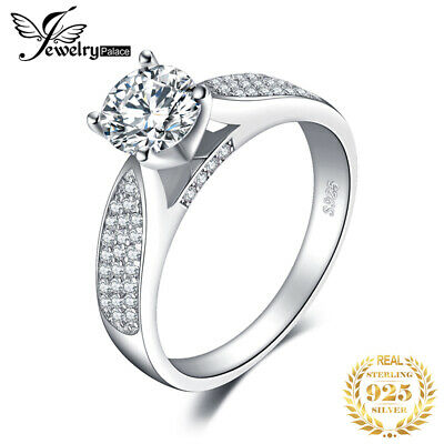 JewelryPalace Cubic Zirconia Wedding Ring 925 Sterling Silver Fashion Gift