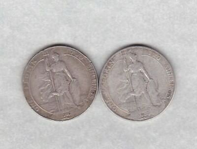 1904 Edward Vii Silver Florin In A Used Fair To Fine Condition