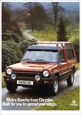 CHRYSLER MATRA RANCHO RETRO A3 POSTER PRINT FROM CLASSIC 70's ADVERT