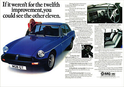 Mg Mgbgt 1976 Retro Poster A3 Print From Classic Advert