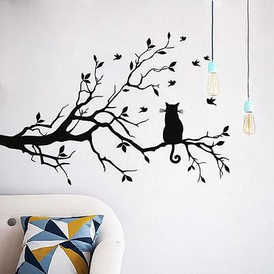 Removable Art Vinyl Quote DIY Cats Wall Sticker Decal Mural Home Room Decor S