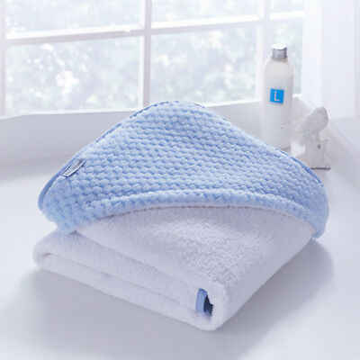 Clair de Lune Luxury Honeycomb Hooded Towel, Blue