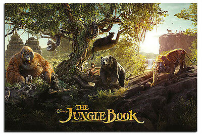 The Jungle Book Panorama Film Poster New - Maxi Size 36 x 24 Inch