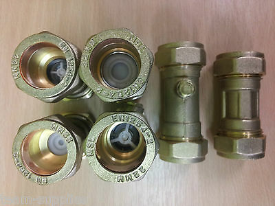 Brass Single Check Valve 22Mm Non Return Compression