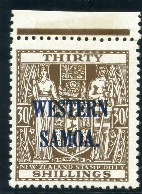 Samoa 1948 KGVI 30s brown superb MNH. SG 211. Sc 199.