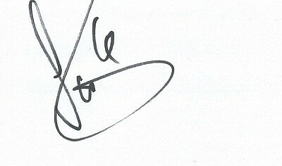 A 5 x 3 inch white card. Personally signed by Ben Turner of Cardiff City.