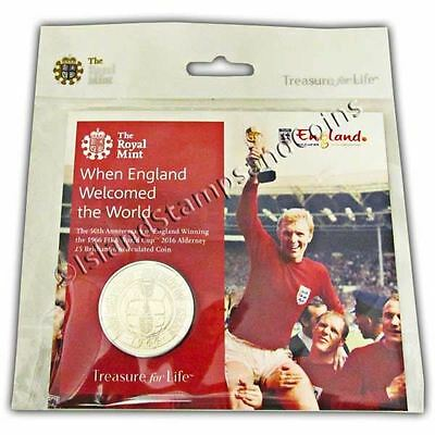 The 1966 FIFA World Cup England 2016 Alderney �5 Brilliant Uncirculated Coin