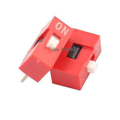 50PCS Slide Type Switch Module 1-Bit 2.54mm 1 Position Way DIP Red Pitch
