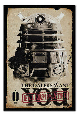 Framed Doctor Who The Daleks Want You Exterminated Poster New