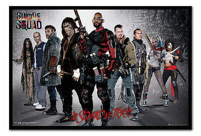 Framed Suicide Squad Group Film Movie Poster New