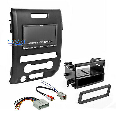 Car Radio Stereo Double Din Dash Kit Wire Harness for select 2009-12 Ford F-150