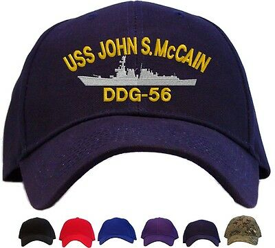 129bf3ab8bc USS John S. McCain DDG-56 Embroidered Baseball Cap - Available in 6 Colors