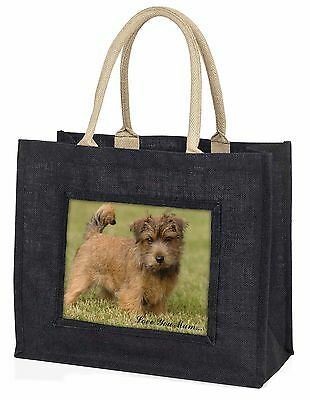 Norfolk Norwich Terrier 'Love You Mum' Large Black Shopping Bag Ch, AD-NT1lymBLB