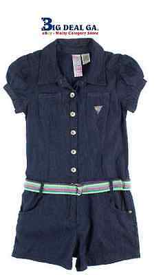 Guess Girls Denim Belted Romper New With Tags