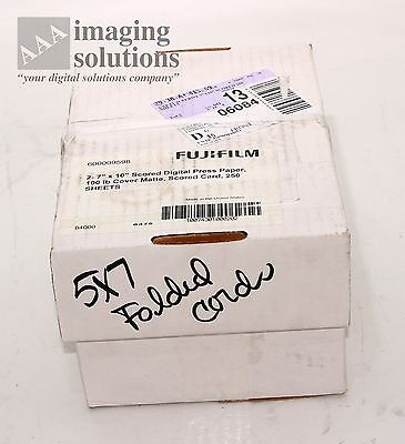 500 Sheets Fujifilm 5x7 White Greeting Card Paper 100lb cover Matte Scored 7x10