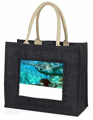 Turtle by Coral Large Black Shopping Bag Christmas Present Idea      , AF-T20BLB