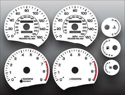 1989-1999 Toyota MR2 160 MPH Dash Instrument Cluster White Face Gauges