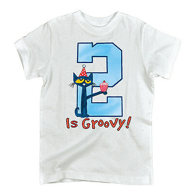 Pete the Cat 2nd Birthday Boys TODDLER SHORT SLEEVE TEE