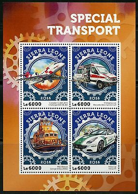 Sierra Leone 2016 Special Transport Rescue Vehicles Sheet  Mint Nh