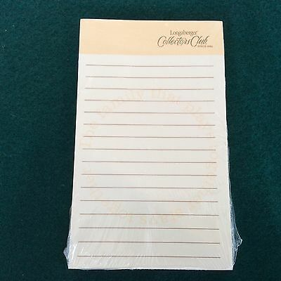 Lined Note Pad Longaberger NEW Great Gift