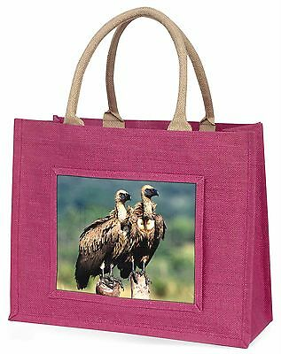 Vultures on Watch Large Pink Shopping Bag Christmas Present Idea, AB-92BLP